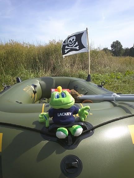 Piratenschlauchboot-Signal